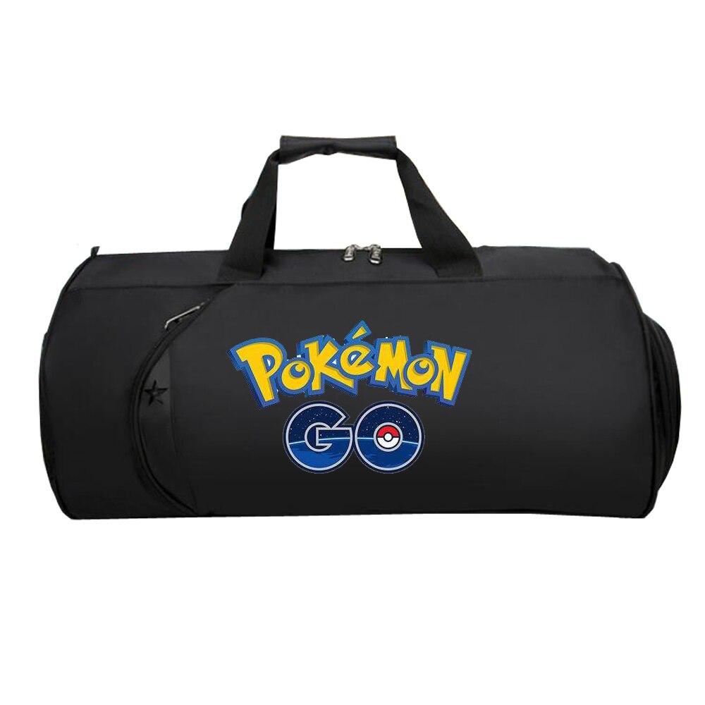 Мужская Дорожная сумка для багажа, сумка для подростков, большой Многофункциональный чемодан, сумка на плечо для Аниме Pokemon GO Pikachu
