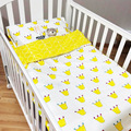 2016 New Sale Jogo De Cama 3pcs/set 100%cotton Crib Bed Baby Bedding Set Include Pillow Case+bed Sheet+duvet Cover No Filling