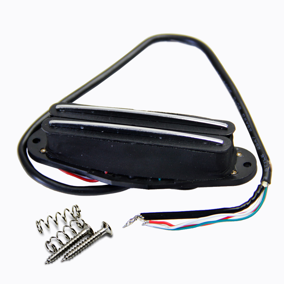 hight resolution of dual hot rail humbucker electric guitar pickup with 4 wires for coil tapping and no noise guitar pick holder