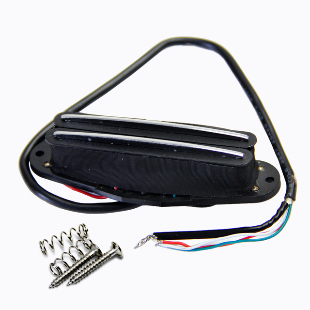 dual hot rail humbucker electric guitar pickup with 4 wires for coil tapping  and no noise