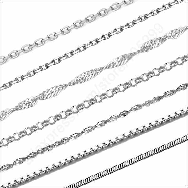 x5 STERLING SILVER NECKLACE CHAINS Various styles and lengths available