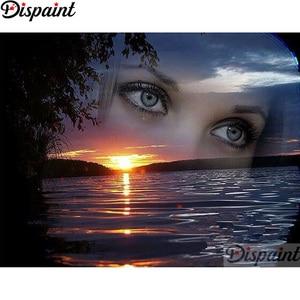 Алмазная вышивка 5D, полный квадрат/круглая дрель, сделай сам, алмазная картина «Закаточные глаза женщины», вышивка крестом, 5D, домашний деко...