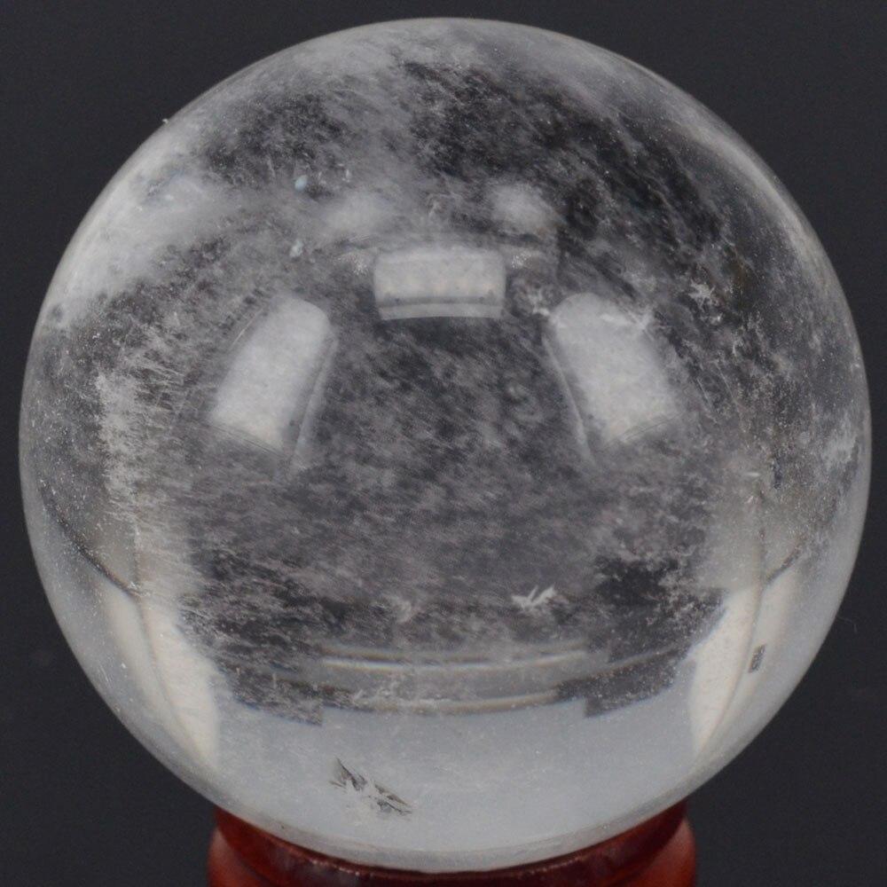 Boule sphérique en cristal de Quartz transparent | Pierre naturelle (2