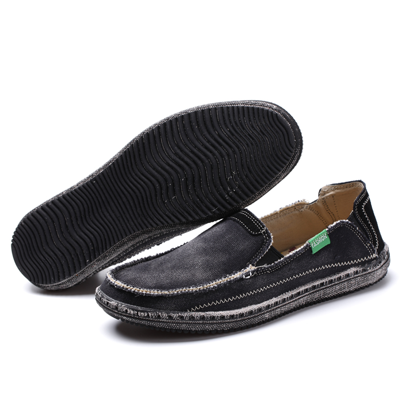 Mens casual Canvas Schuhe Loafers Leinwand Denim Man Casual Sommer - Herrenschuhe - Foto 3