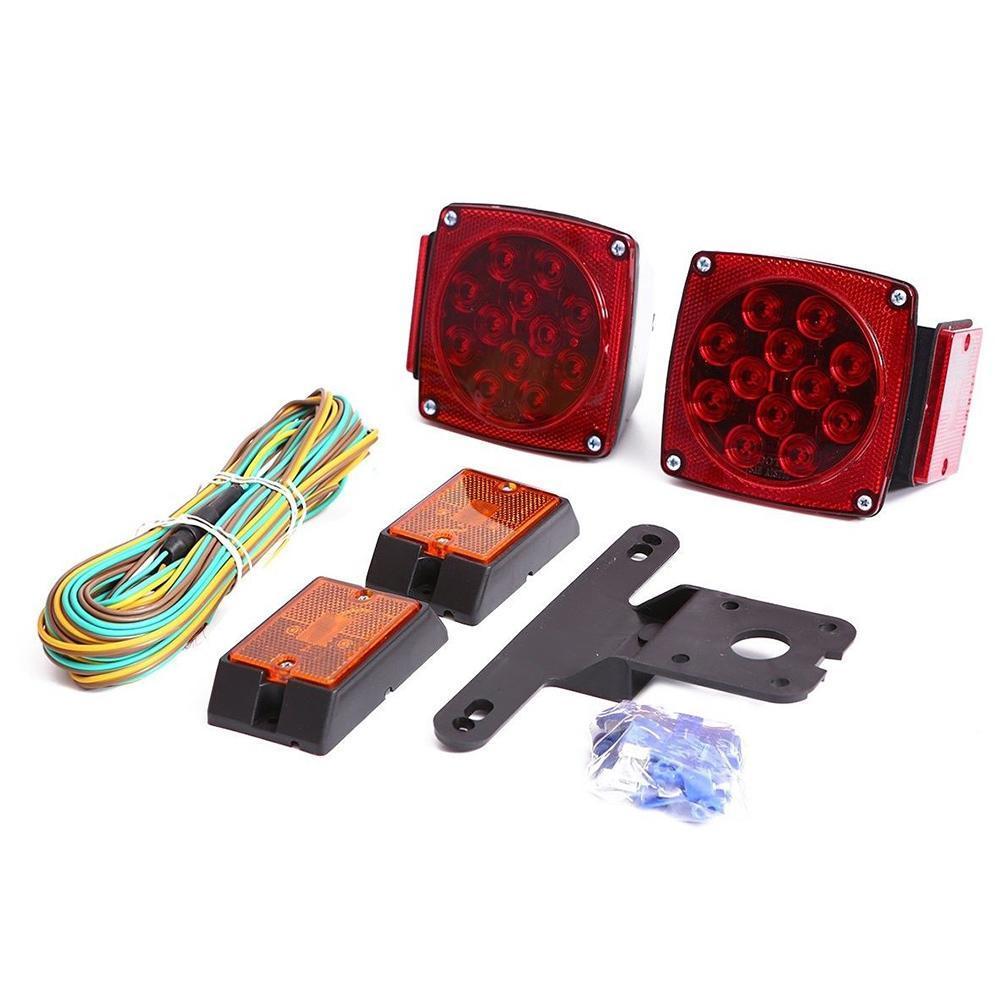 Camion remorque SQ kit d'éclairage LED Submersible arrêt arrière feu arrière marqueur lampe étanche Tailight bateau Bus Van pièces 12 V