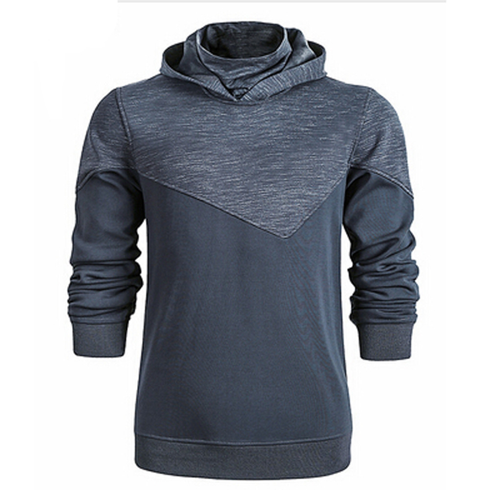 HEFASDM Mens Casual Basic Long Sleeve Plaid Slim-Fit Spliced Color Shirts
