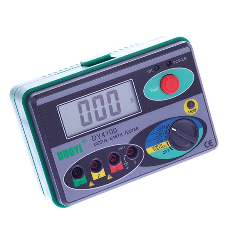 Mégohmmètre 0-2000 Ohm Réel Numérique Terre Testeur DY4100 Résistance de Terre Testeur Compteur Multimètre