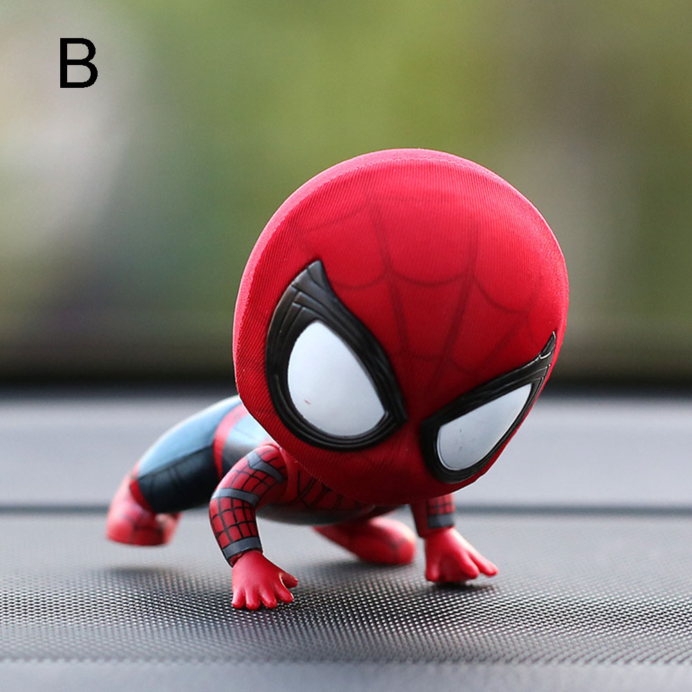 Car dashboard cartoon spiderman accessories toys model cool resin ornament magnet auto interior dashboard decoration doll car accessories gift trim