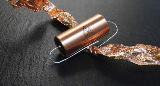 D'origine Royaume-uni Audio Note 0.01 uf-10 uf 300volt-600volt feuille de cuivre immersion dans l'huile condensateur livraison gratuite