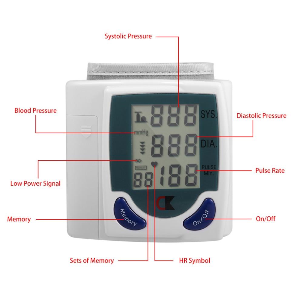 Здравоохранения Автоматический цифровой ЖК-дисплей кровяного Давление монитор для измерения Heart Beat и пульс DIA SYS Перевозка груза падения