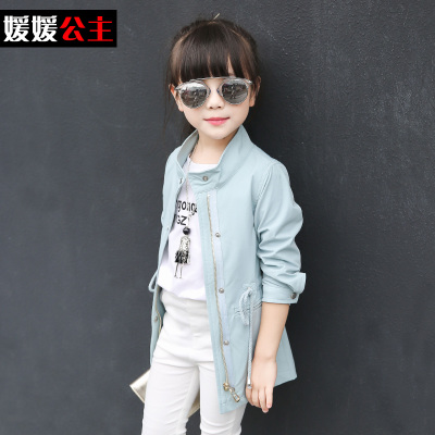 df69dfc60 High Quality 2018 Korean Spring Fall Girls Cool Long Leisure Jacket ...