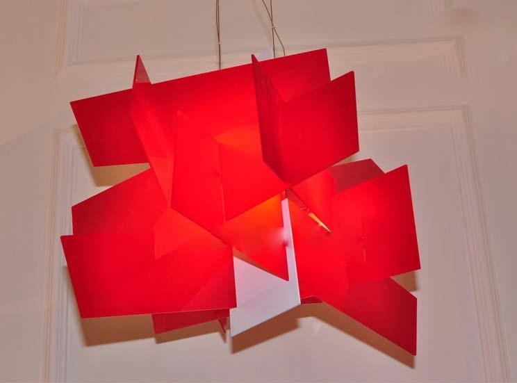 Brand promotion 65CM Modern Red lamp designe Big Bang Acrylic Light Fixtures Chandelier Pendant Lamp Lighting
