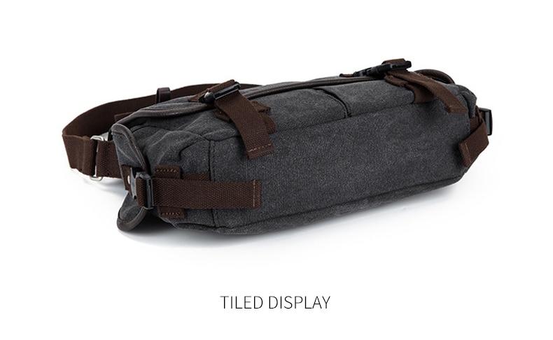 Vintage Men's Briefcases Shoulder Bag Travel Crossbody Bags Causal Canvas Messenger Bag Patchwork Multi-function Laptop XA237ZC