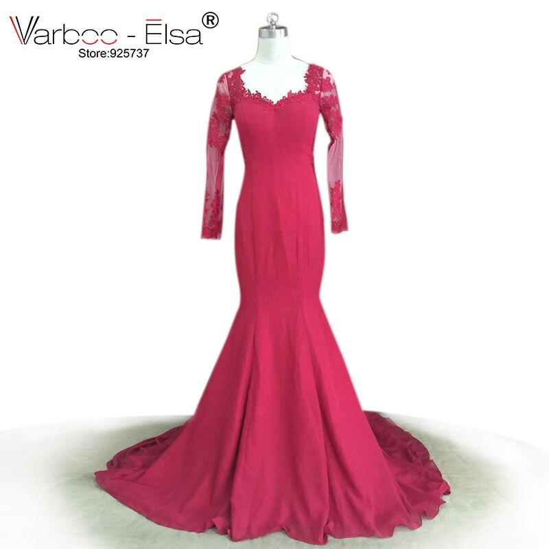 ღ Ƹ̵̡Ӝ̵̨̄Ʒ ღVARBOO_ELSA Elegant Sheer Long Sleeve Prom Dress ...