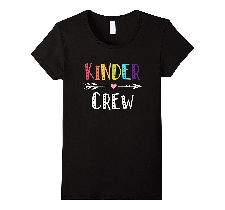 Kinder Crew Kindergarten Teacher T-Shirt 1st Day of School Summer Rock Roll T Shirts Women Sale Woman Shirts Female Fantastic