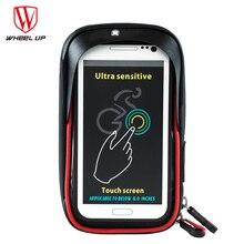 цена на WHEEL UP MTB Frame Pouch Bag Bike Bicycle Phone Bag Rainproof TPU Touch Screen Cell Phone Holder Bicycle Handlebar Bags