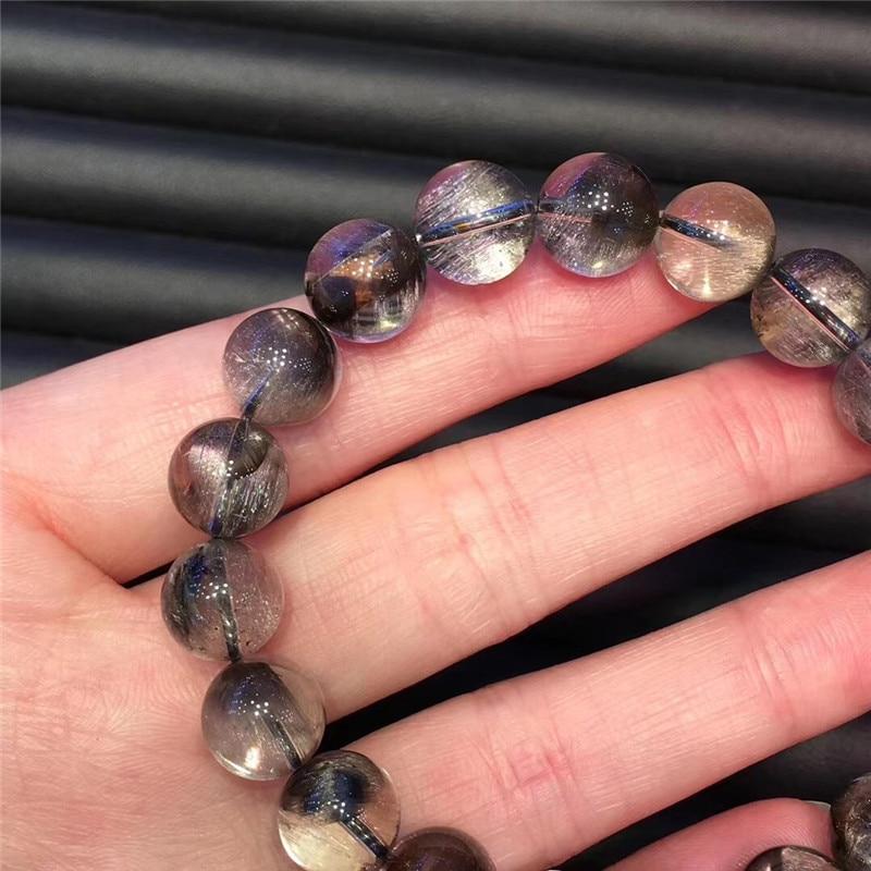 Natural Silver Rutilated Quartz Crystal Bracelet (4)