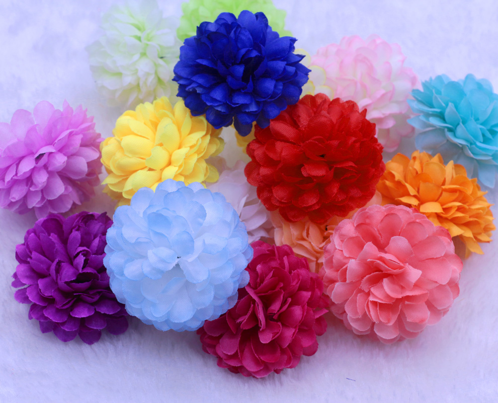 Wholesale 50pcslot 5cm Orange Color Ball Daisy Artificial Silk