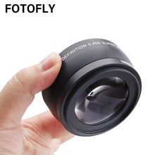 0.45X 46 49 52 55 58 mm Wide Angle Lens With Macro Optical Glass Lenses For Canon Nikon Pentax Lens Accessory High Definition