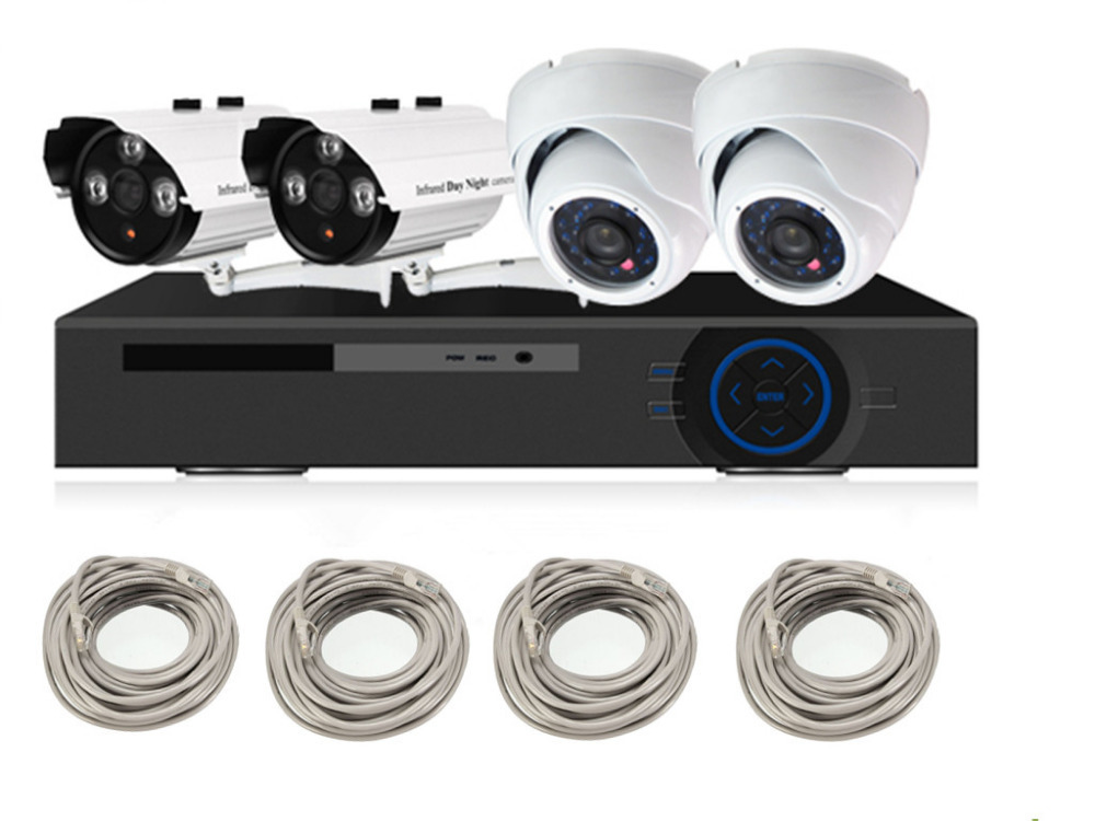 1.0Megapixel (1280 x 720p) 4Ch Network POE Video Security System (NVR Kit) - Four 1MP POE Weatherproof  IP Cameras Night Vision1.0Megapixel (1280 x 720p) 4Ch Network POE Video Security System (NVR Kit) - Four 1MP POE Weatherproof  IP Cameras Night Vision
