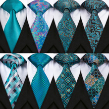 DiBanGu New Design Mens Tie Set Hanky Cufflinks Good Quality Silk Neck For Men Formal Wedding Party Business