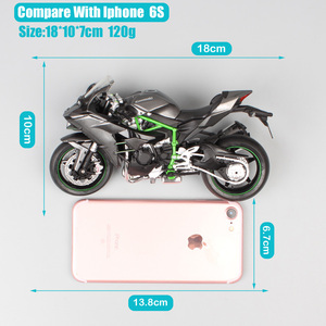Image 3 - 1/12 Automaxx Kawasaki Ninja H2 supersport bike H2R scale motorcycle Diecasts & Toy Vehicles model thumbnails for kid collection