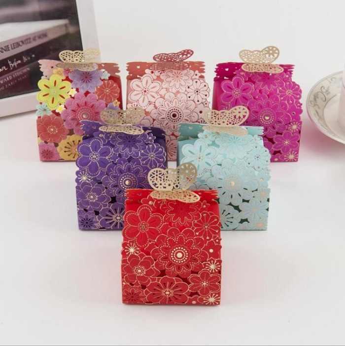 Saco de caixa de doces de chocolate pacote de presente de papel para o Aniversário Festa de Casamento favor Decoração suprimentos chá de bebê DIY borboleta Wh