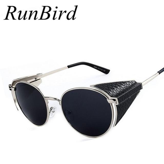 2016 Serpentina Gótica Steam Punk Gafas Vintage de Moda de Verano Fresco gafas de Sol Mujeres Hombres Diseñador de la Marca oculos R589