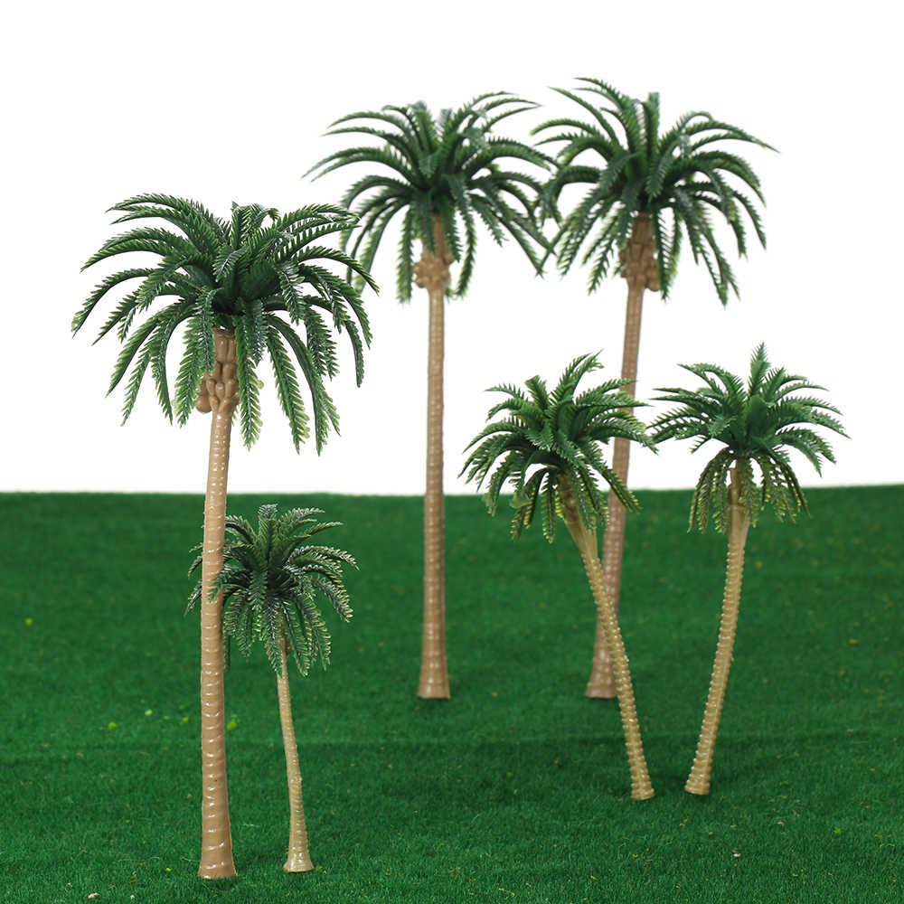 15 قطعة نموذج الاصطناعي Treeys اللعب 16 سنتيمتر البلاستيك مصغرة أشجار النخيل تخطيط نموذج قطار شجرة جوز الهند الغابات المطيرة اللعب ل Dec