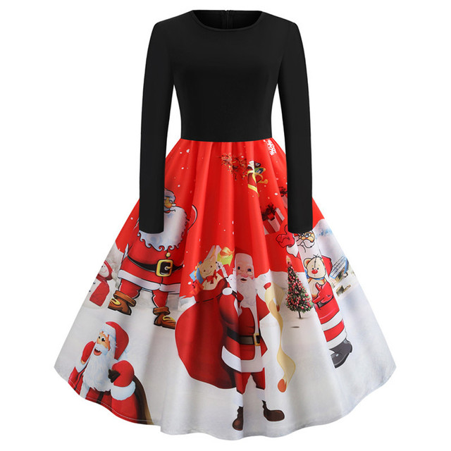 fa84675fab Feitong Dresses Christmas Women's Long...