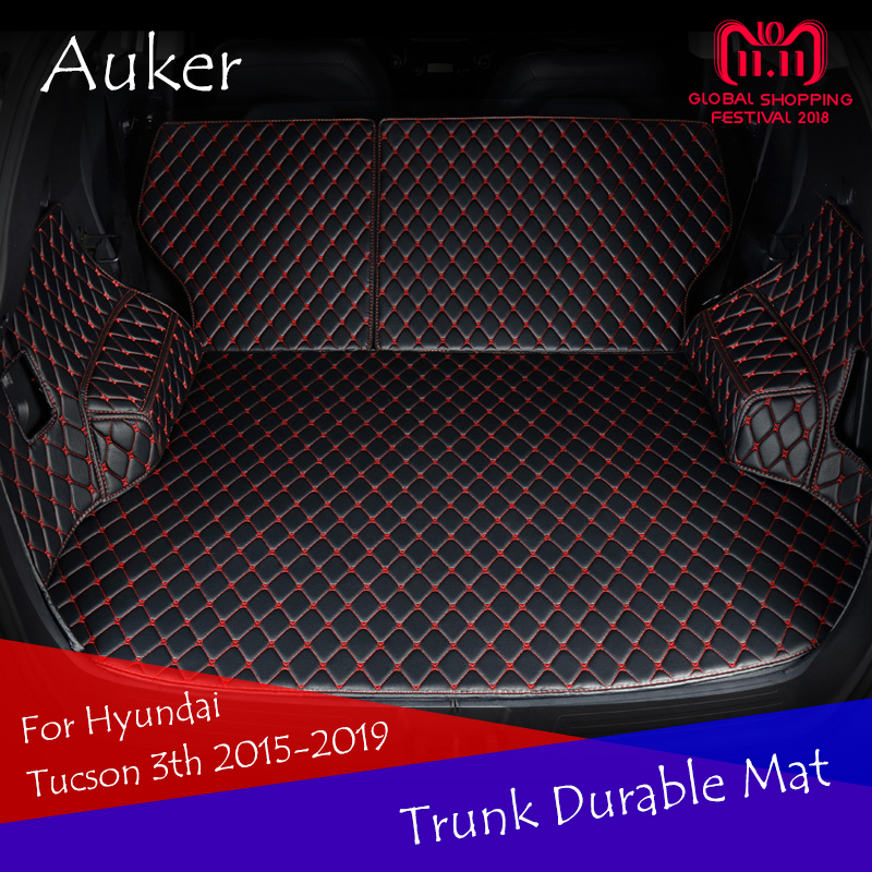 For 2013-2019 Hyundai Tucson 3th Car Rear Tail Box Carpets Full Coverage Durable Trunk Mat Pad Cargo Liner Car StylingFor 2013-2019 Hyundai Tucson 3th Car Rear Tail Box Carpets Full Coverage Durable Trunk Mat Pad Cargo Liner Car Styling