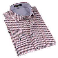 Brand Men's Classic Plaid Long Sleeve Dress Shirt Men Business Formal Shirts Smart Casual Mens Clothing Camisa Masculina