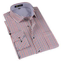 Marke männer Klassische Plaid Langarm Kleid Shirt Männer Business Formale Shirts Smart Casual Herren Kleidung Camisa Masculina