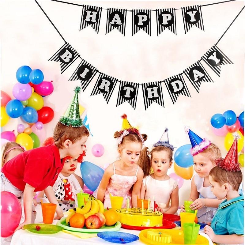 Amawill 3 Mt Happy Birthday Schwalbenschwanz Bunting Banner Erwachsene Geburtstag Party Dekoration 30th 40th 50th Supplies In