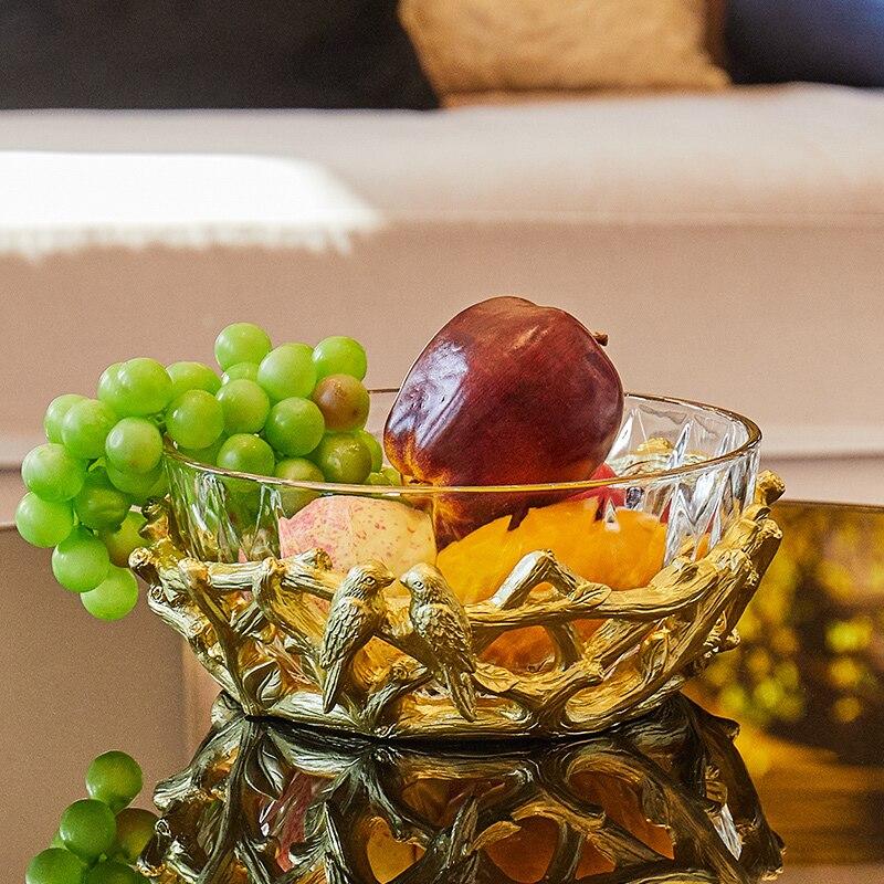 Европейская роскошная стеклянная фруктовая чаша, Современная гостиная, креативный журнальный столик, винный шкаф, витрина, салатник ZP3181801