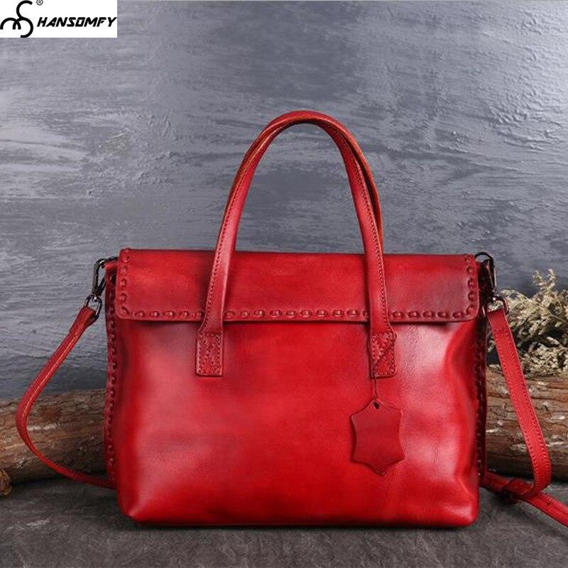 Original retro leather clamshell Women bag color fashion leather handmade sewing line shoulder bag handbag female messenger Bags все цены