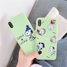 Cute dog case For iPhone X XS xr MAX Cartoon Anti-fall mobile phone shell Cover iphone 8/8p/7/6s Plus bags