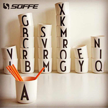 Soffe Nordic Brief Letter Coffee Mug Melamine Decoration Tumblers Milk Beer Wine Travel Mugs and Tea Cups Toothbrush Holder Cup
