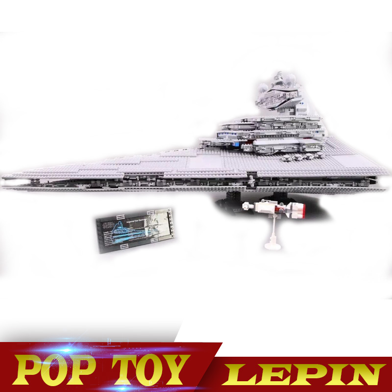 DHL Lepin 05027 3250Pcs Star Set Wars Imperial Star Destroyer Model Building Kit Blocks Bricks Educational Compatible 10030 2017 hot 05027 3250pcs star fighters starship model building kit blocks bricks assembling toy compatible with 10030 wars
