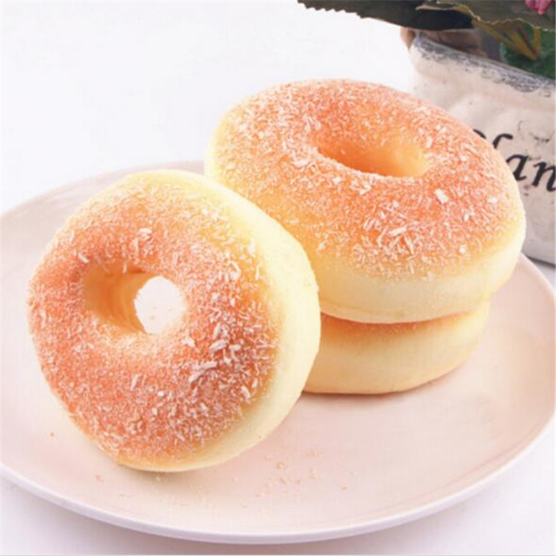 Decor Charms Baby Kids Simulation Donuts Toys  Children Food Pretend Play Kitchen Toys Squishy Bagels Bread Fake Cabinet Furnish