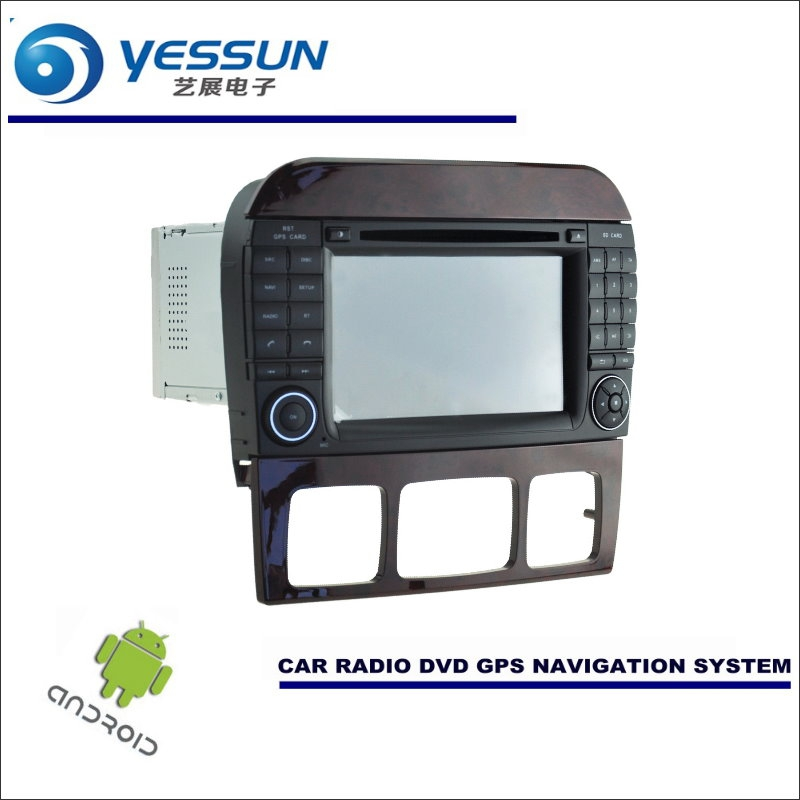 YESSUN Car Android Navigation System For Mercedes Benz S Class W220 1998~2005 Radio Stereo CD DVD Player GPS Navi BT Multimedia