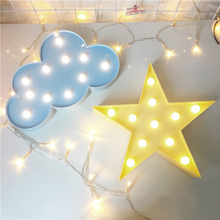 Lovely White/Blue Cloud LED Night Light Warm White Table Lamp Marquee LED  Light Nice Gifts For Children Room Decorations