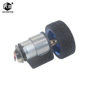 Image 1 - 37 مللي متر قطر محركات ذات تروس 12 فولت 24 فولت بطارية تيار مباشر المحرك مع التشفير و عجلة عدة لتقوم بها بنفسك JGB37 520 Gear Motor