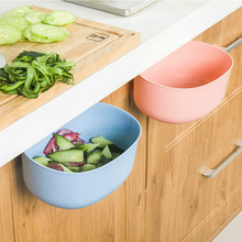1pc Kitchen Multifunctional Storage Box Hanging Type Dustbin Vegetable Washing Basin Fruit Tray Plastic Storage Trays 1832CH