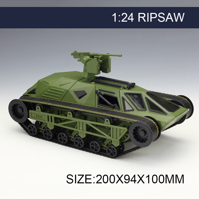 1:24 Model Car RIPSAW Green Metal Vehicle Play Collectible Models Sport Cars toys For Gift FAST AND FURIOUS 8 F8