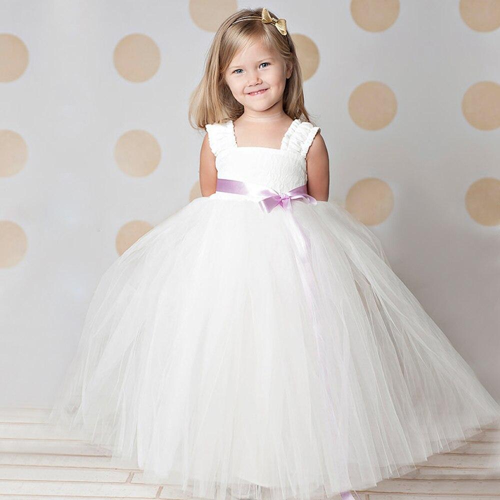 ФОТО Lace Flower Girl Dress Lavender Sash Custom Colors Made To Order Dress beautiful tutu dress different kinds of belt colors