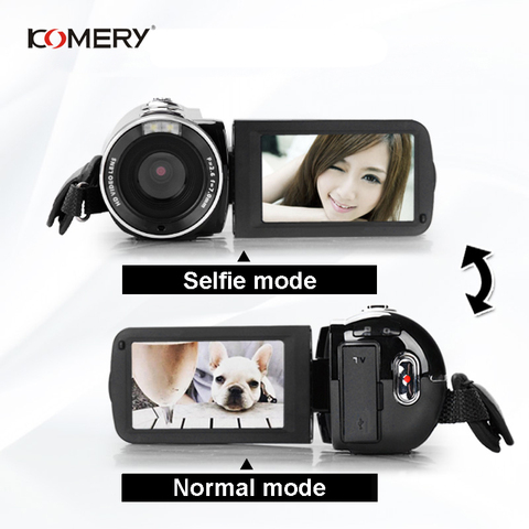 "KOMERY Digital Video Camera Full HD 1080P Portable Camcorders 24 MP 16X Digital Zoom 3.0"" Touchscreen Digital Anti-shake Camera Islamabad"