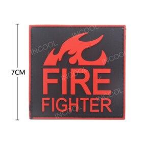 3D ПВХ пожарная нашивка истребитель, спасательный военный крючок, резиновые патчи, тактическая аппликация эмблем, боевые пожарные значки