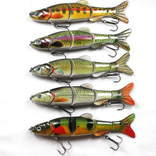 High Quality Big Size Lure Fish Bait 5 Section Jointed Lure 16.5cm 38g Sinking Wobbler Vibration Bait Swimbait Fishing Tackle