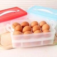 キッチン卵収納ボックスオーガナイザー冷蔵庫卵格納する24スロットオーガナイザー屋外ポータブルコンテナ-15